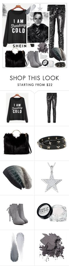 """""""Shein.Raglan Sleeve Slogan Print Sweatshirt"""" by natalyapril1976 ❤ liked on Polyvore featuring Marciano, T-shirt & Jeans, RED Valentino, Michael Stars, Jools by Jenny Brown, Tim Holtz, MAKE UP FOR EVER, Clé de Peau Beauté and Bobbi Brown Cosmetics"""