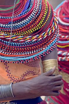Africa |  Details of Samburu beadwork | © Panoramic Images