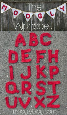 Free #Crochet Alphabet From Mooglyblog.com