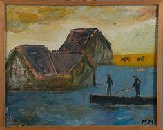 Mauno Markkula: Soutajat, öljy kankaalle, pingotettu levylle, 42,5x52,5 cm - Bukowskis Market 2015