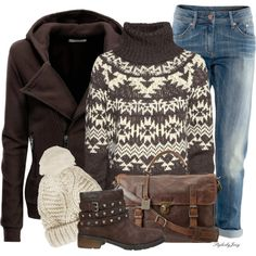 Down Town Brown, created by stylesbyjoey on Polyvore