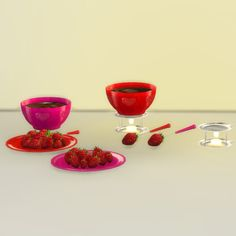 Fondue Set at Leo Sims • Sims 4 Updates