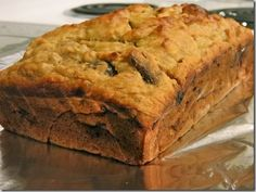 Almond Banana Coconut Date quick bread