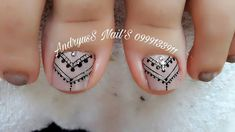 Toenail Art Designs, Nail Designs Pictures, Fall Nail Art Designs, Purple And Pink Nails, Purple Nail Art, Simple Toe Nails, Cute Toe Nails, Nail Art Salon, Toe Nail Art