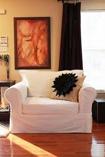 DIY Slipcovers and link to upholstery yardage chart