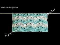 deniz dalgası örgü modelleri motifli