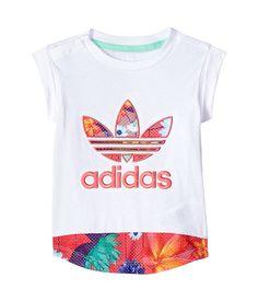 22850bae adidas Originals Kids Floral Graphic Tee (Infant/Toddler) Boy's T Shirt  White/