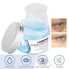 Eye Mask Sheet Hyaluronic Acid Eye Serum Patches Vitamin C. Skin Allergy Test, Reduce Dark Circles, Eye Serum, Spa Treatments, Skin Problems, Hyaluronic Acid, Eyeshadow Palette, Moisturizer, Skin Care