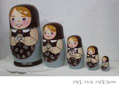 wooden nesting dolls  ( http://blog.naver.com/tjsks140)