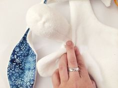 The Bunny Lovey is a sweet little blanket doll. It would be a lovely gift for a newborn! And it is quick to make if you have a sewing m...