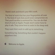 Apple does things differently to other companies, and this note that greets its new employees on their first day is further proof of that.