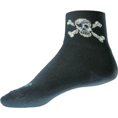 """Sock Guy Pirate 3"""" Quarter  Socks"""