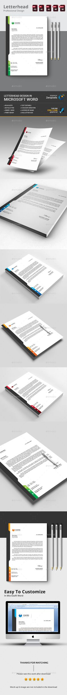 Buy Corporate Letterhead by zeropixels on GraphicRiver. Invoice Design Template, Letterhead Design, Letterhead Template, Stationery Design, Psd Templates, Design Templates, Corporate Identity Design, Brand Identity Design, Business Branding