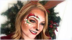 Deer / Reindeer Makeup and Face Painting - Ostern Backen Winter Wonderland Christmas, Christmas Deer, Christmas Time, Minimal Christmas, Simple Christmas, Face Painting Designs, Body Painting, Paint Designs, Christmas Makeup