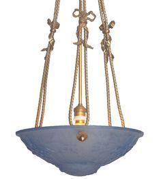Museale original französische Jugendstil Empire Deckenleuchte Deckenlampe Degue