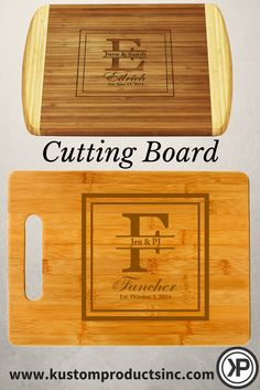 Looking for a unique gift that stands out from the crowd? Then you've landed at just the right place! This superior quality custom laser engraved cutting board makes a bold and elegant statement. The 100% Organically Grown Bamboo Cutting Board won't dull knives.   This custom engraved cutting board makes a lovely and unique personalized gift perfect for any Birthday, Mother's Day, Father's Day, House Warming, Wedding, Christmas, holidays and anniversaries... and many more! This gift is 100%…