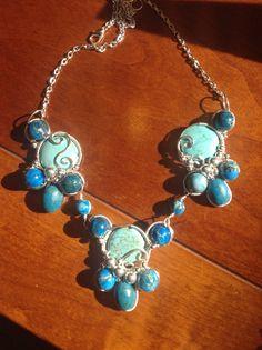 Silver and turquoise pendant by Arte Laboratae - Katalin KB Walcott