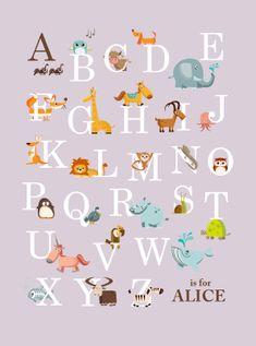 Animal ABC for nursery something on the cricut