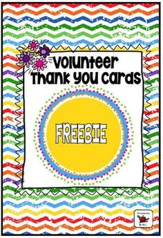 Looking for a great way to thank volunteers in your class? I'm always so grateful for the help I receive and these tags/cards are a simple way to offer thanks to those who help make our classrooms special.