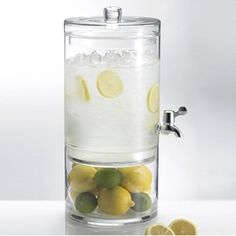 Great idea for waiting room water, away from boring water filter.