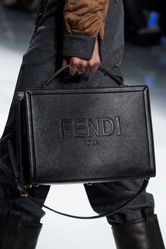 Fendi Fall 2020 Men& Fashion Show Details Saddle Handbags, Handbags For Men, Purses And Handbags, Men Fashion Show, Fashion Bags, Mens Fashion, Luxury Bags, Luxury Handbags, Sacs Design