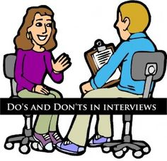 Do's and Don'ts in interviews