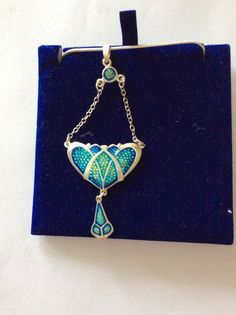 Sterling Silver and Enamel pendant by TheMouseyPad on Etsy
