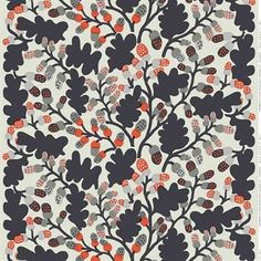 The retro Pähkinäpuu fabric comes from Marimekko, the print was designed by Katsuji Wakisaka in 1974 and shows his affinity for Japanese illustration. Use the fabric as curtain or maybe as a fun table cloth