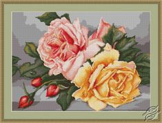 Roses - Cross Stitch Kits by Luca-S - B485