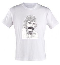 BUTCHER T-shirt by Paul Nelson-Esch Drawing Art pencil Illustration portraiture daniel day-lewis gangs of new york cotton t shirt print