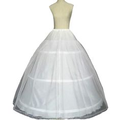 Fair Lady 3 Hoop Ball Gown Full Crinoline Petticoat For Women Wedding Skirt