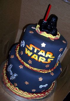 Star Wars cake. You'll be seeing this at my 17th birthday party, for sure.
