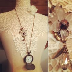 Restyled pocketwatch with resin flowers, glass beads and Swarovski elements. Handmade with love. One of a kind.