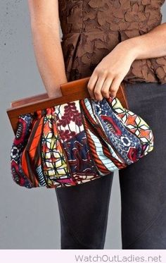 Wonderful african print clutch design