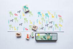 .יולטה - מוצרי נייר איכותיים ויחודיים | ערכת חותמות עץ : Jungle