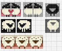 Ravelry: Love sheep pattern by Eve Laine. I& love to redraw these on knitting graph paper because I doubt they& turn out as they appear on ordinary graph paper once knit. But they are very sweet! Fair Isle Knitting Patterns, Fair Isle Pattern, Knitting Charts, Knitting Stitches, Knitting Designs, Knitting Projects, Baby Knitting, Knitting Tutorials, Vintage Knitting