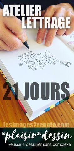 Dans le cadre des 21 jours d'Atelier Lettrage je vous donne ici 5 astuces afin de dessiner des lettres : comprendre les typos, le materiel, etc.