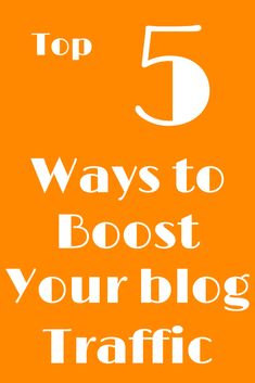 How to boost your traffic immensely! Make Money Blogging, How To Make Money, How To Become, Becoming A Blogger, Create Website, Creating A Blog, 5 Ways, How To Start A Blog, Social Media