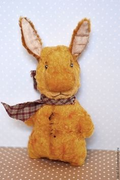 Мишки Тедди ручной работы. Ярмарка Мастеров - ручная работа. Купить ЗАЙАТС. Handmade. Жёлтый, солнечный зайчик, плюш
