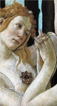Sandro Botticelli-Primavera(dettaglio) 1482 circa, tempera su tavola, 203×314 cm, Firenze, Galleria degli Uffizi