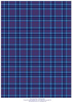 Blue Tartan A4 Backing Paper Card making and Scrapbooking on Craftsuprint - Add To Basket!