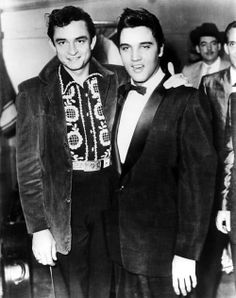 Elvis with a very young Johnny Cash.