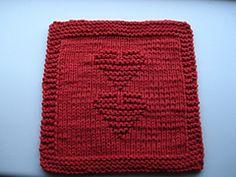 Ravelry: Knit Valentine Dishcloth pattern by Melissa Bergland Burnham