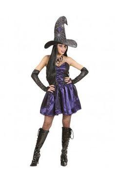 Disfraz de bruja violeta sexy para mujer