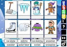 Winter Word Cards Winter Words, Snow Plow, Winter Games, Polar Bear, Snowman, Comics, Cards, Comic Book, Snowmen