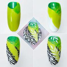 Abstract Nail Art, Dot Nail Art, Nail Art Diy, Diy Nails, Art Deco Nails, Animal Nail Art, Nail Art Videos, Flower Nail Art, Manicure E Pedicure