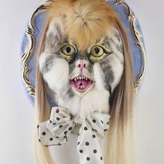 Rage De Lux, 2012. Porcelain, china paint, luster, fur. 30 x 26 x 12 cm