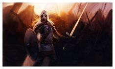 """Brienne of Tarth by ~ReneAigner on deviantART. """"'What could he have done, one man against so many?' He could have tried, Brienne thought. He could have died. Old or young, a true knight is sworn to protect those who are weaker than himself, or die in the attempt."""""""