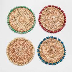 BEADED EDGE COASTERS (SET OF 4) - Coasters - Tableware | Zara Home Ireland