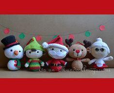 Ravelry: Christmas Big Heads Figures pattern by Es un Mundo Amigurumi
